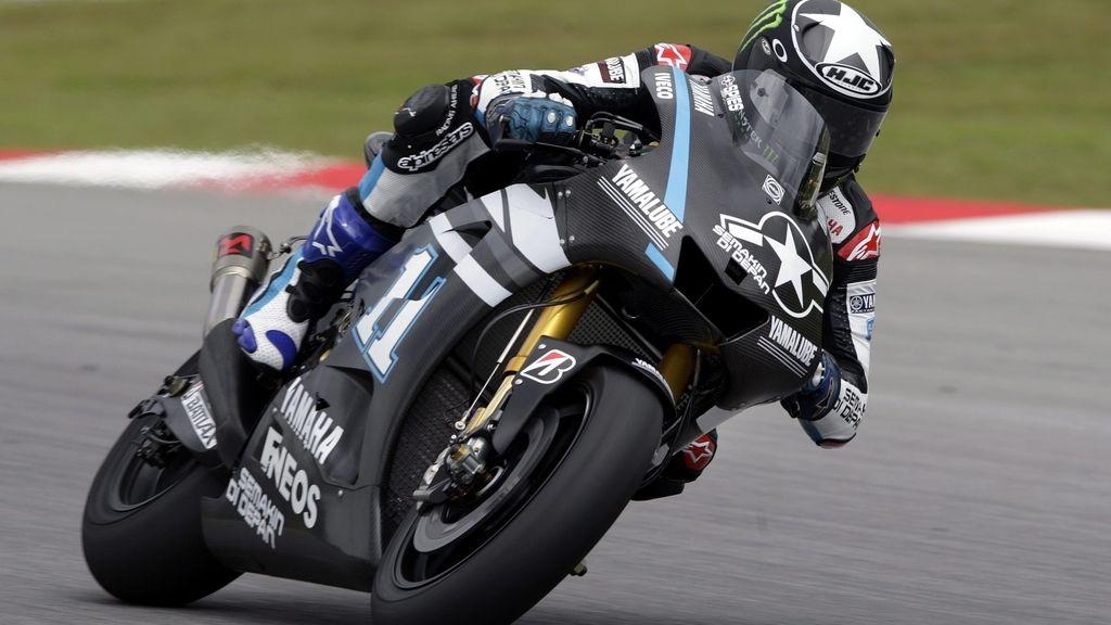 Ben Spies, rodando con la Yamaha en Sepang