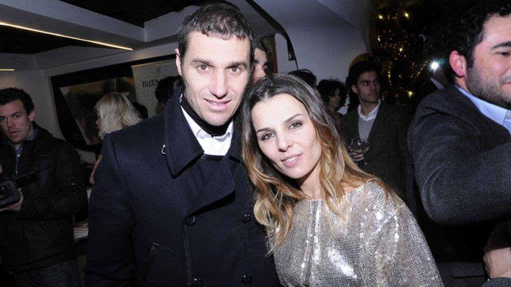 Iván Helguera y su mujer, Lorena Casado