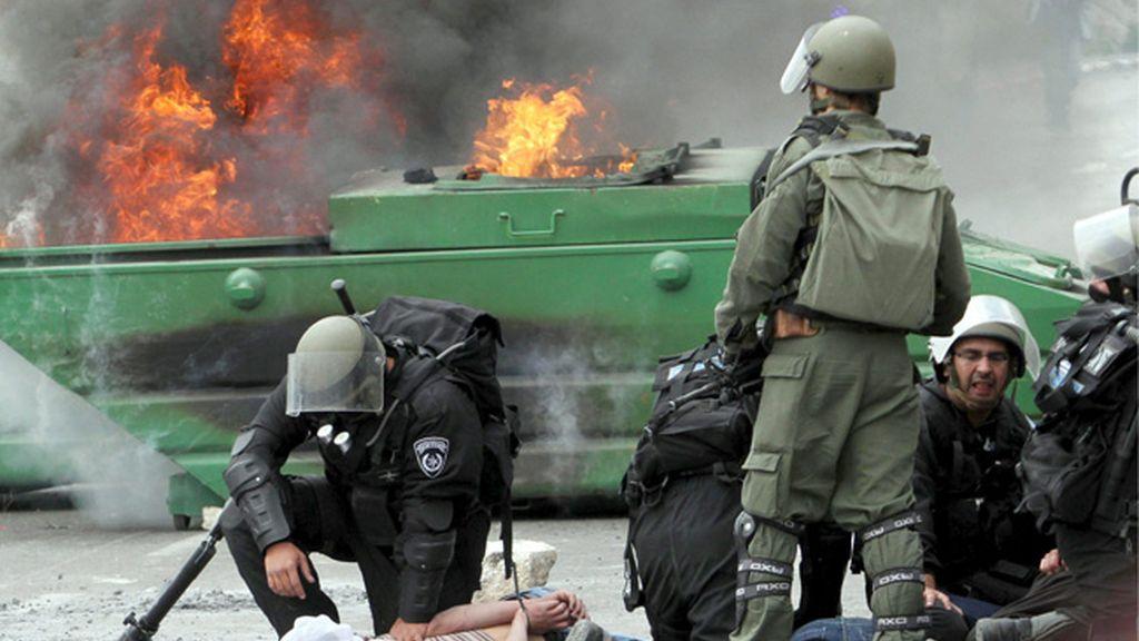 Manifestaciones y arrestos de palestinos en Israel