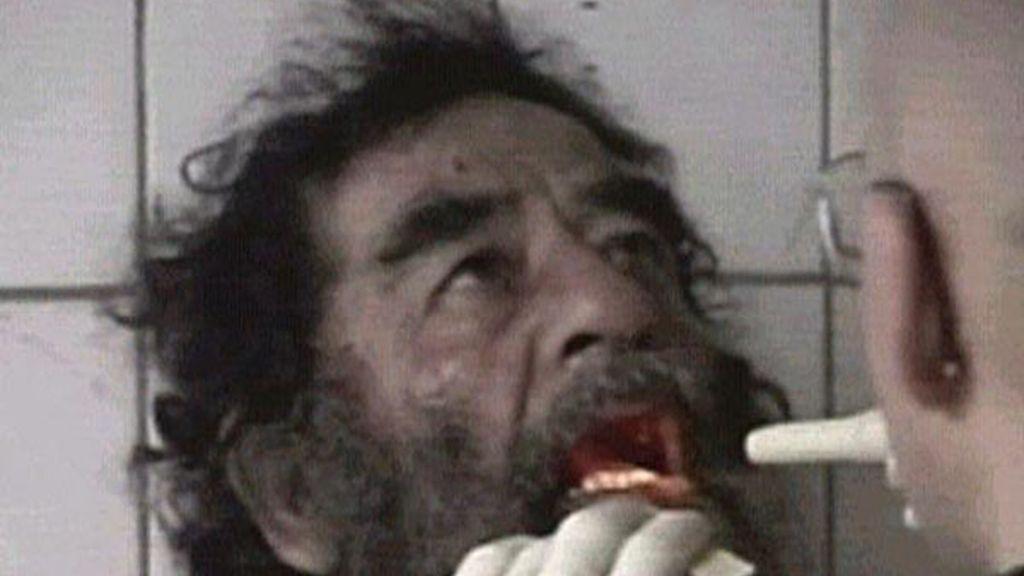 Saddam Hussein antes de su captura