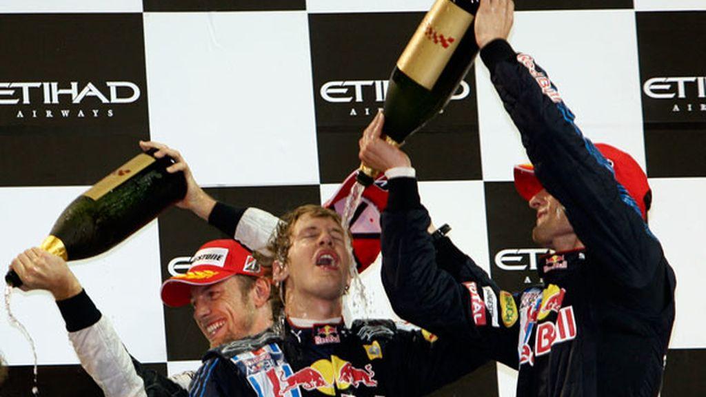 Vettel, Webber y Button