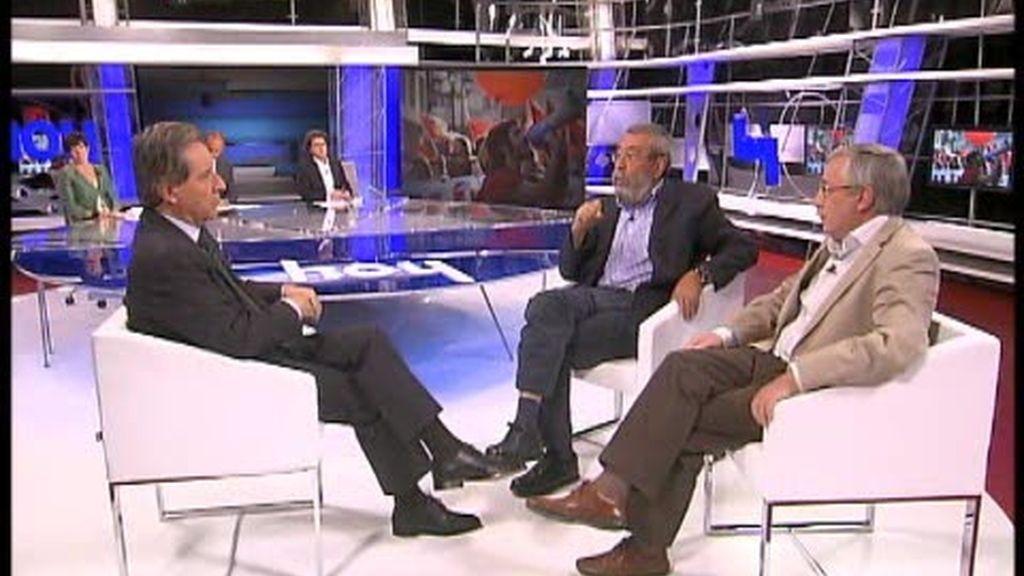 Iñaki Gabilondo entrevista Méndez y a Toxo en 'Hoy'