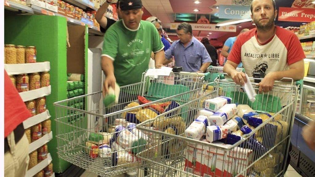 Asalto a supermercados de sindicalistas de Sánchez Gordillo