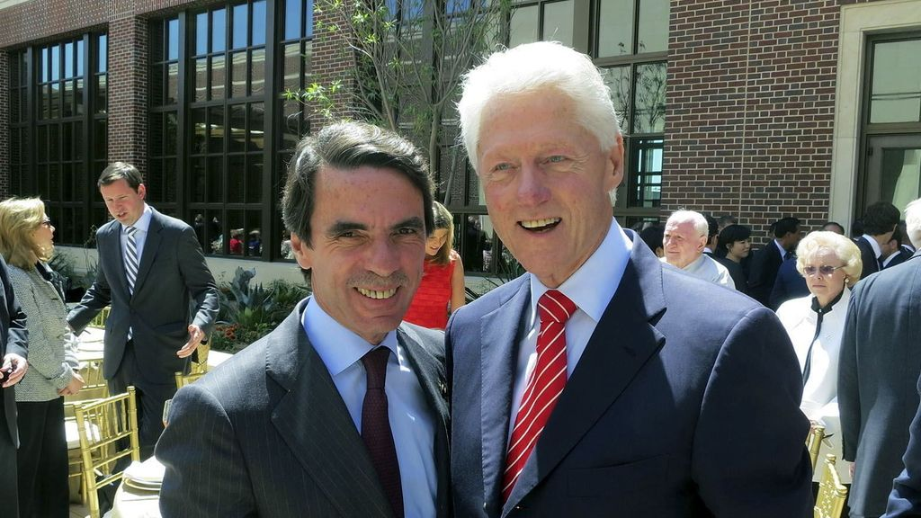 Aznar con Bill Clinton