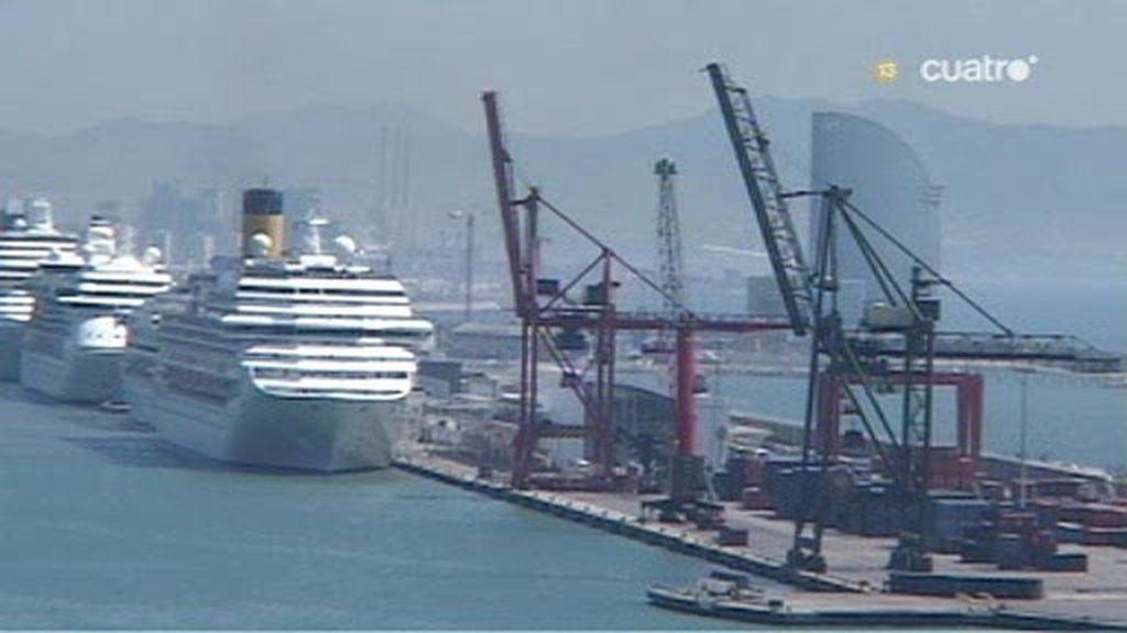 El puerto de Barcelona en plena ebullición