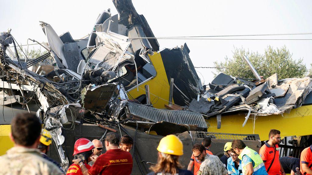 Terrible accidente de tren en Italia
