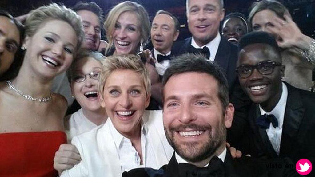El 'selfie' de Ellen Degeneres, el más retuiteado de la historia