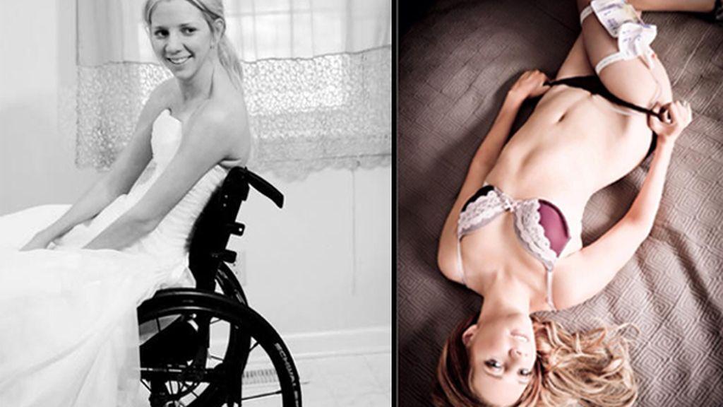 'La novia paralítica' posa en lencería para ser un ejemplo de superación y autoestima