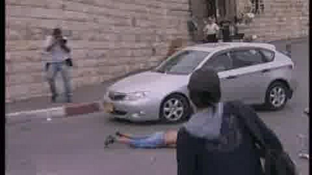 Espectacular atropello en Jerusalén