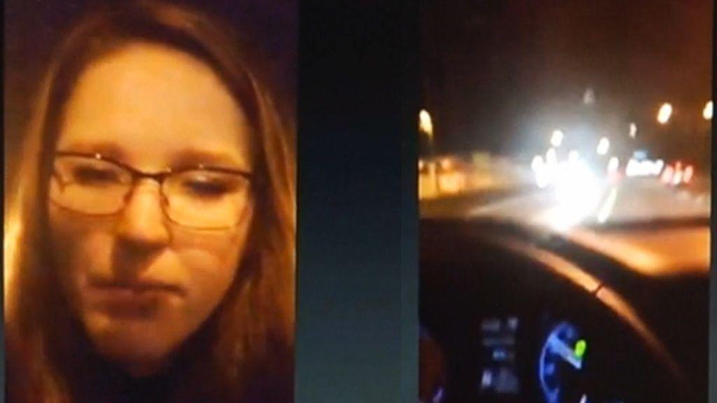 Joven borracha retransmite un vídeo mientras conduce