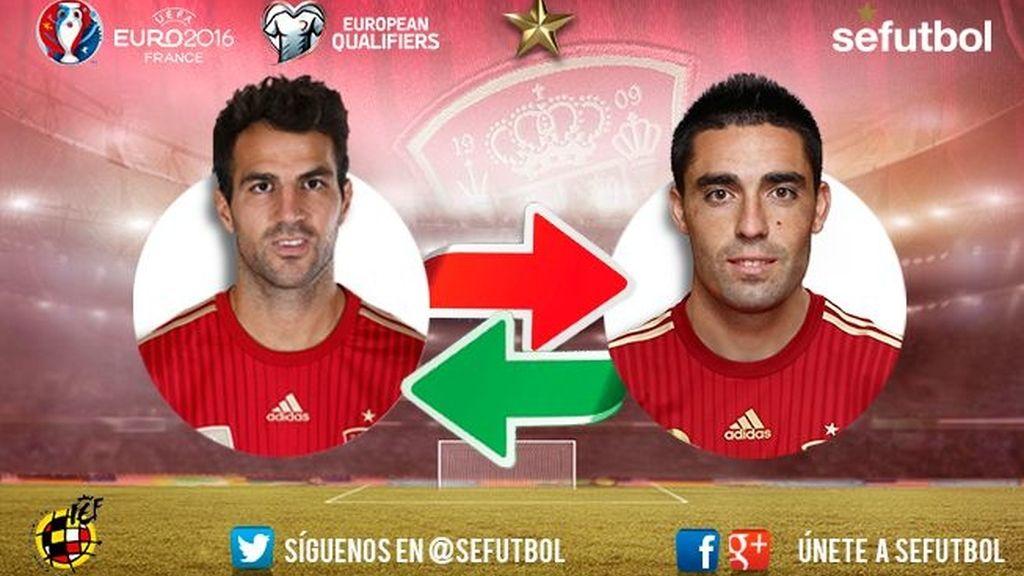Cesc Fabregas abandona la concentración, Bruno Soriano será alta