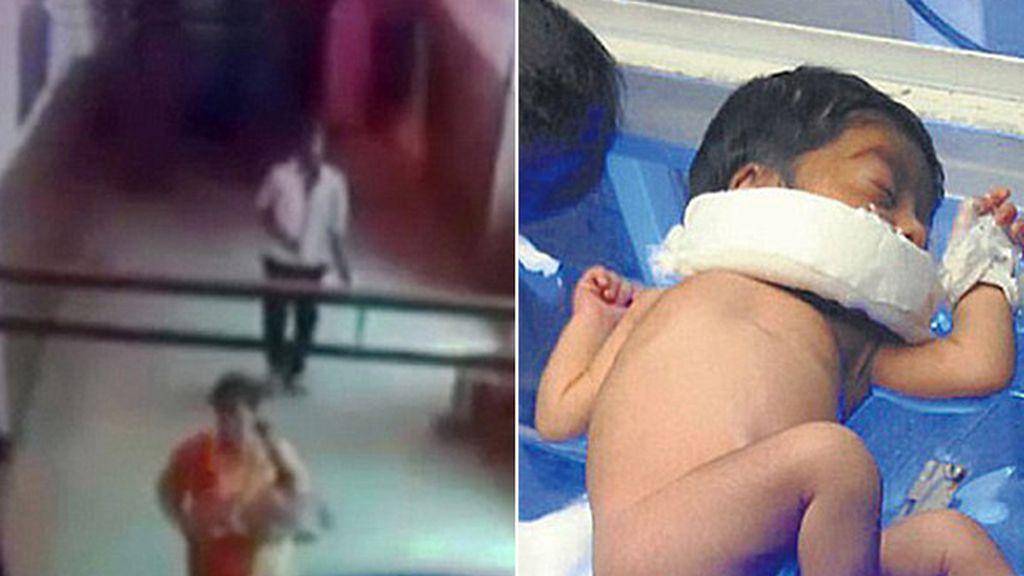 Una mujer secuestra a un bebé en un hospital de la India