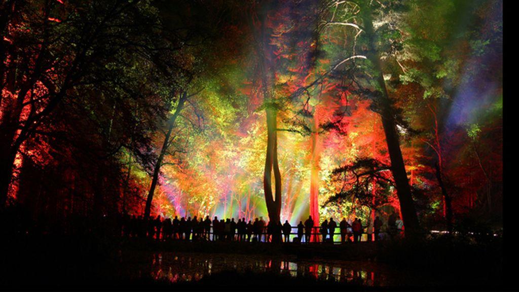 Espectáculo de luces en Escocia
