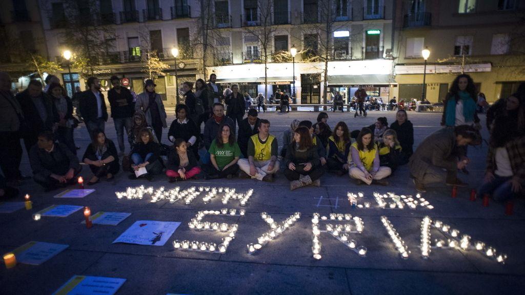 Sirios y españoles recuerdan en Madrid el tercer aniversario de las protestas populares