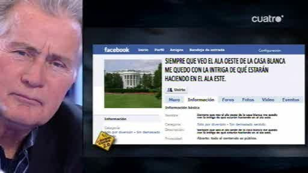 Martin Sheen y Emilio Estévez descubren nuevas tonterías del Facebook