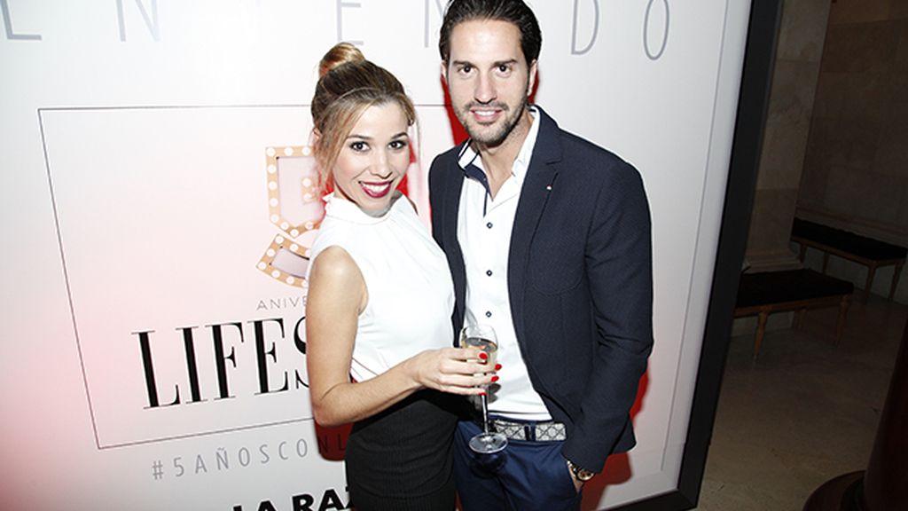 Natalia junto a su novio Álex Pérez