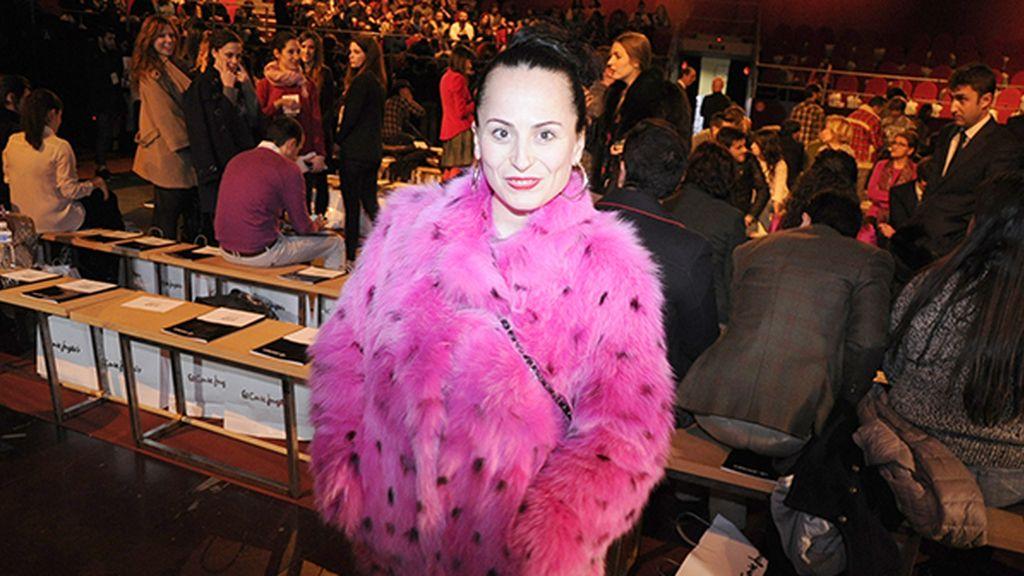 María Escoté estaba espectacular con este abrigo de una de sus primeras colecciones