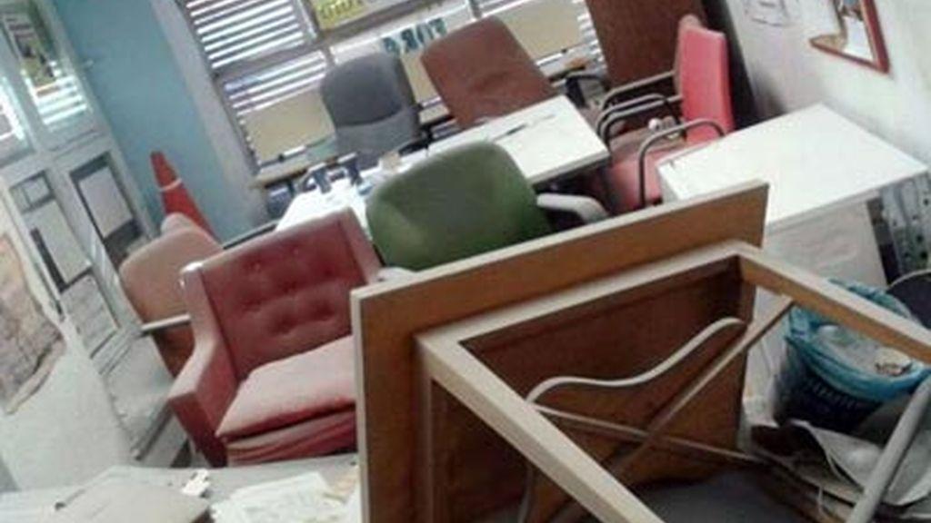 Despacho de la Universidad Complutense atacado por un grupo de extrema izquierda