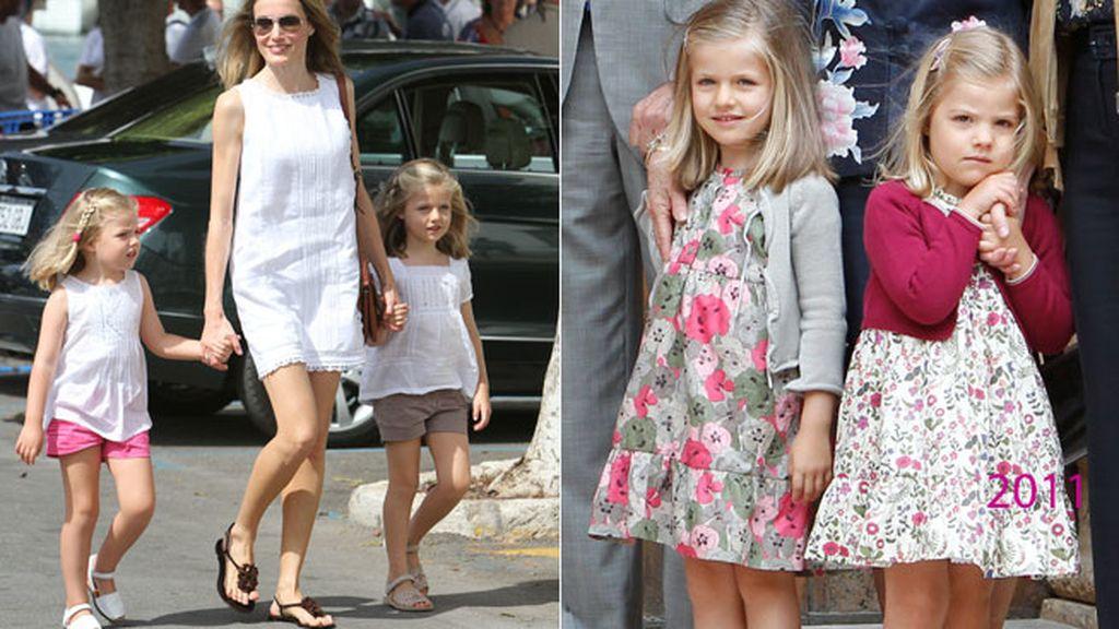 2011: camisas blancas de tirantes y vestidos floreados