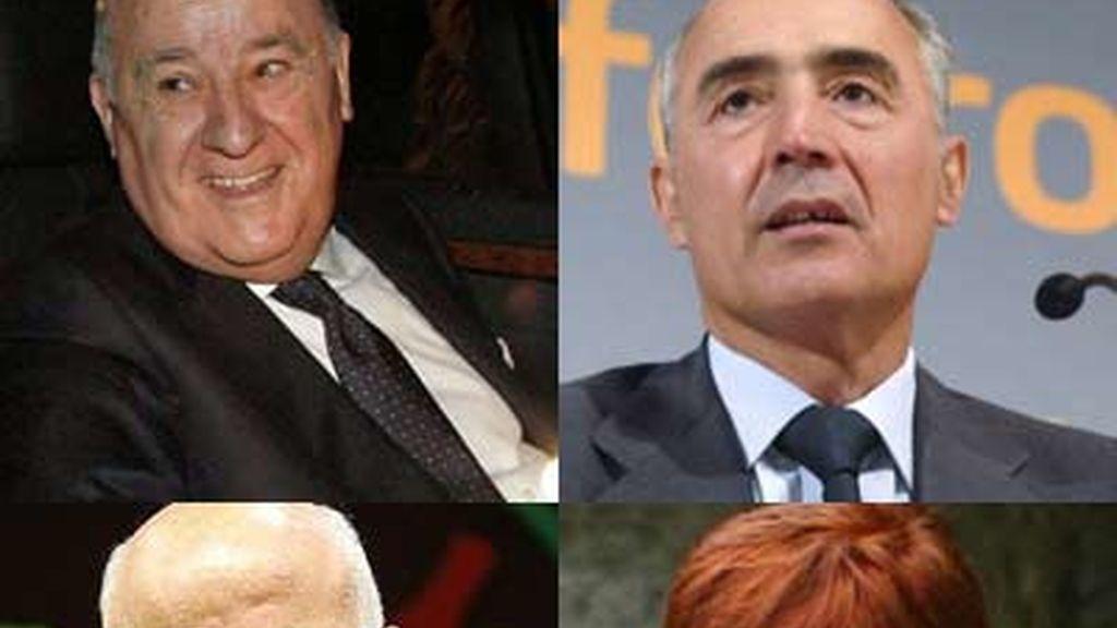 Los cuatro mayores ricos de España tienen 60.000 millones de euros