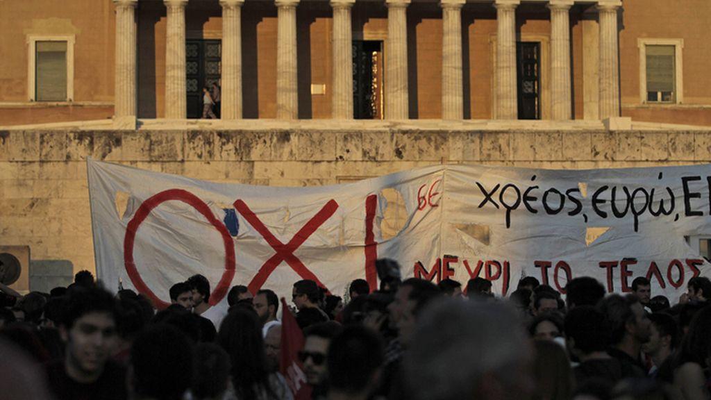 Manifestación en Atenas contra el acuerdo de Bruselas