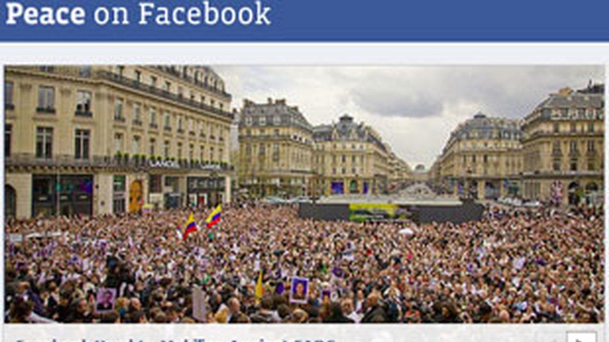 Peace.facebook.com nace con el objetico de promover la paz en el mundo. Foto: Facebook.