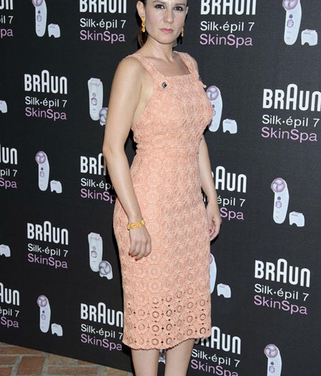 Diana Navarro se decantó por un discreto vestido