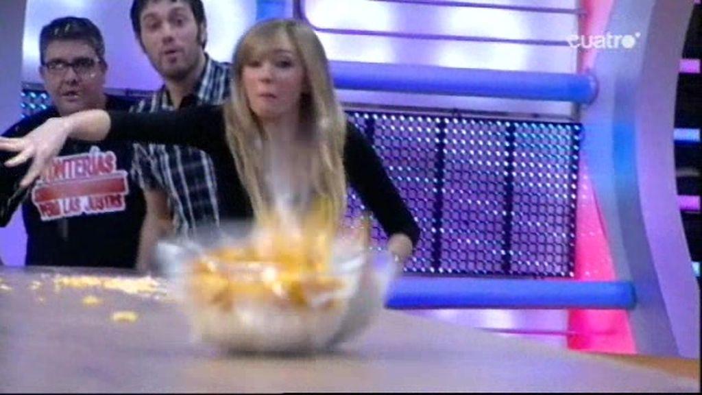 Carrera de boles con cereales