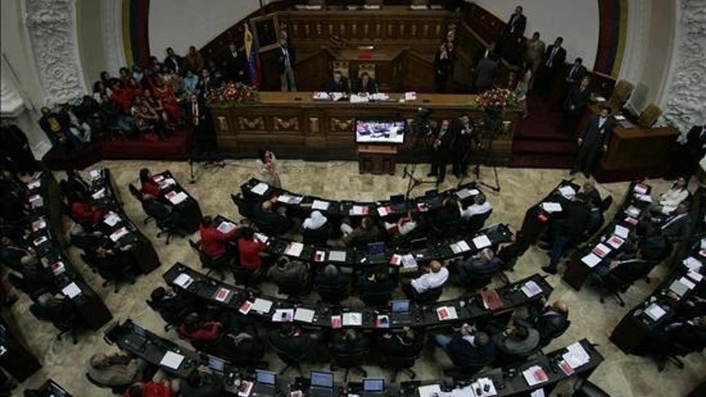 Imagen tomada este 5 de enero durante la inaguración del nuevo período legislativo (2011-2015) de la Asambela Nacional de Venezuela en Caracas. EFE