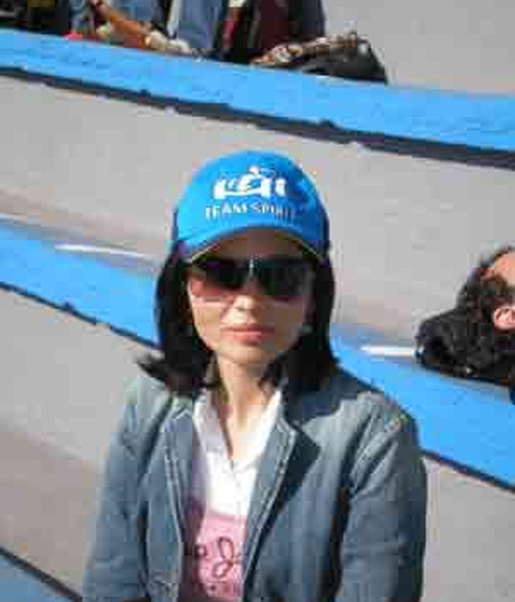 Imagen de una aficionada en el GP Brasil en 2006