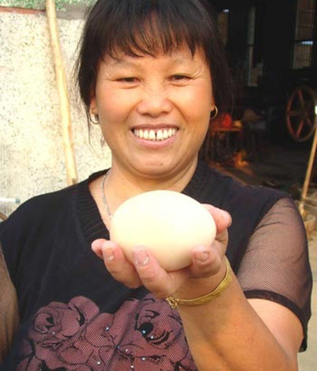 Un huevo de 170 gramos