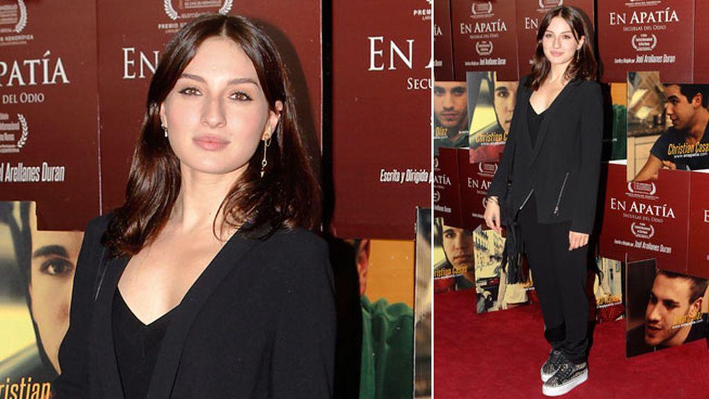 María Valverde apoyó a su cuñado en la presentación de su primera película