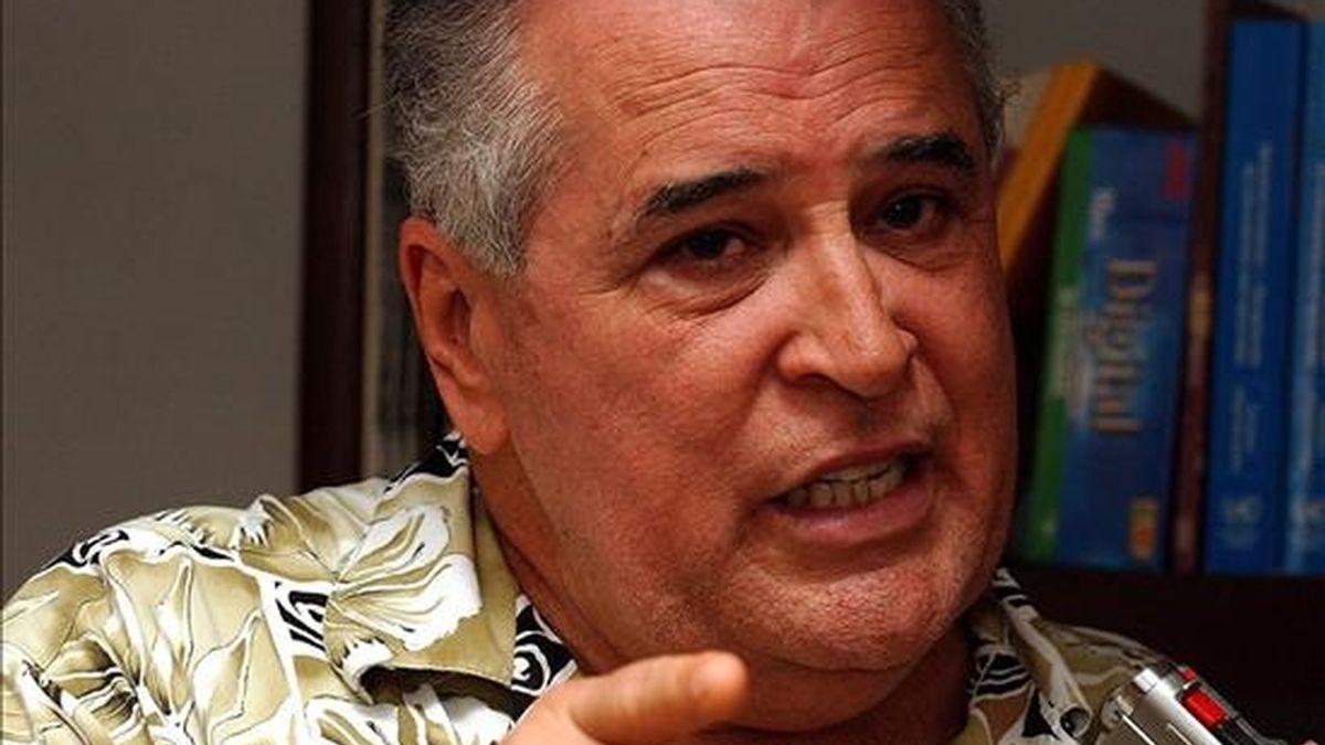 En la imagen, Elizardo Sánchez, de la Comisión Cubana de Derechos Humanos y Reconciliación Nacional (CCDHRN). EFE/Archivo