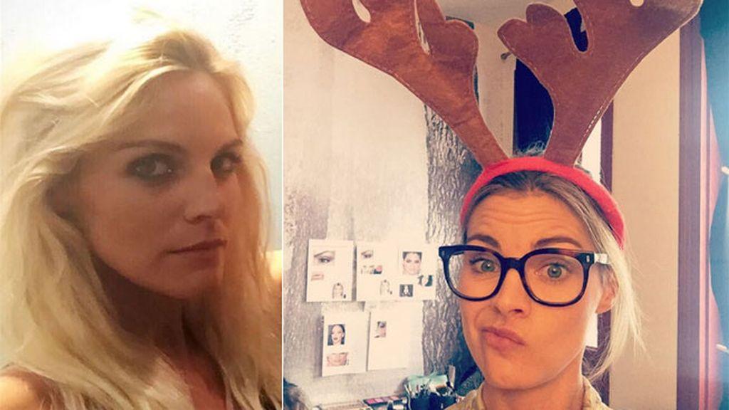 Y más cuernos de reno: Amaia Salamanca los luce para el rodaje de un corto navideño