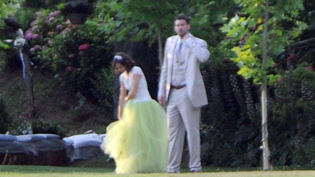 El vestido verde de Cristina Blesa, una novia poco tradicional