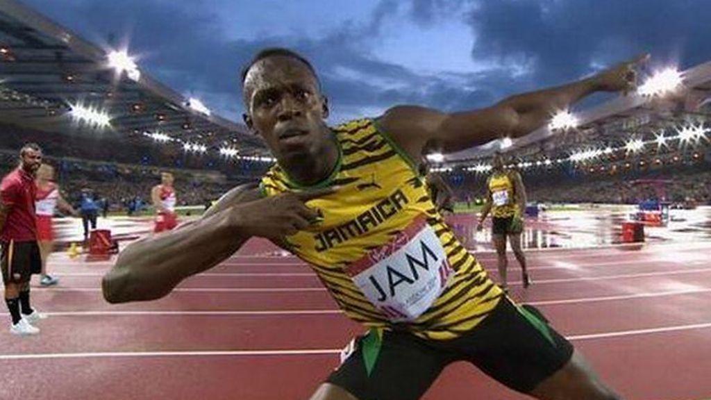 Ashley Cole presenció el récord de Bolt