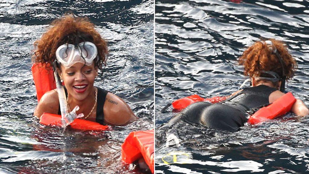 Rihanna se lo pasa 'pipa' en Portofino