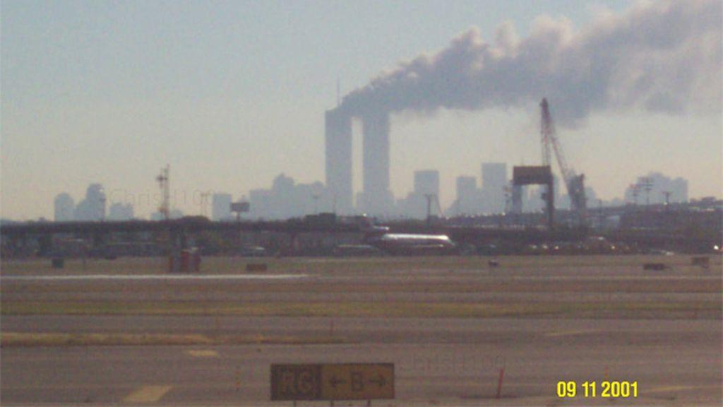 Una fotografía inédita del 11S se convierte en viral en las redes sociales