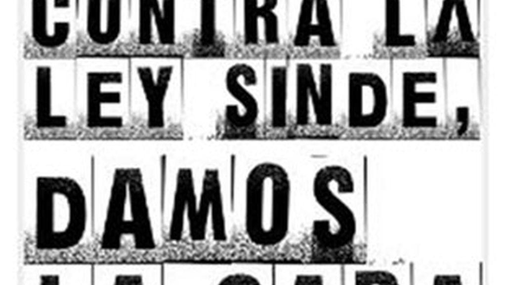 Creadores anónimos desarrollan una plataforma para protestar contra la ley Sinde.