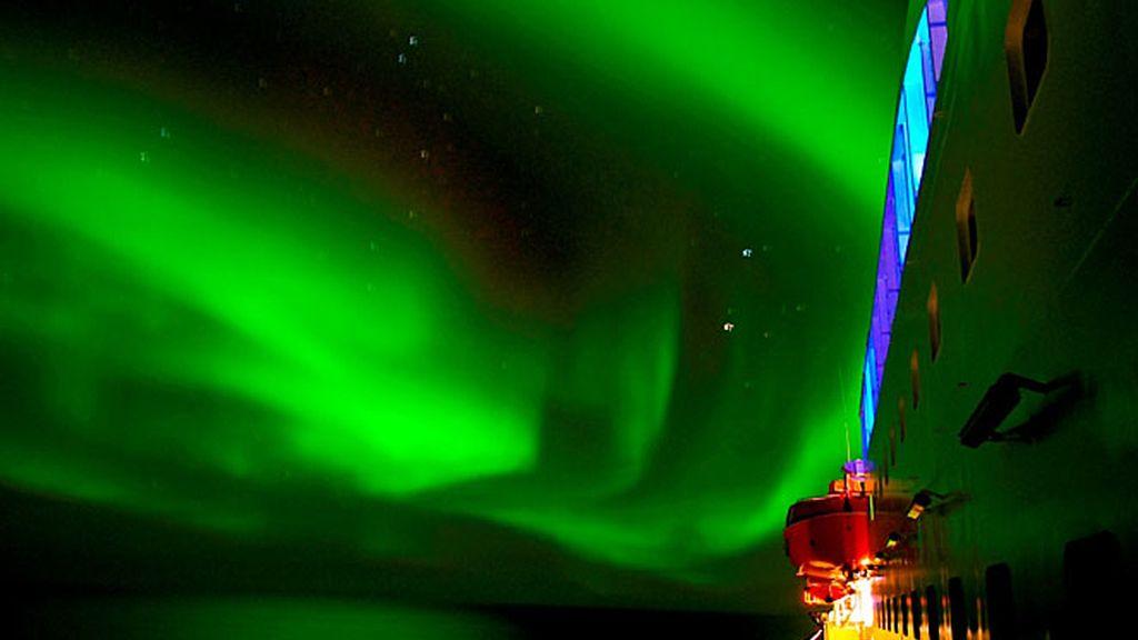 La aurora boreal a bordo de Hurtigruten