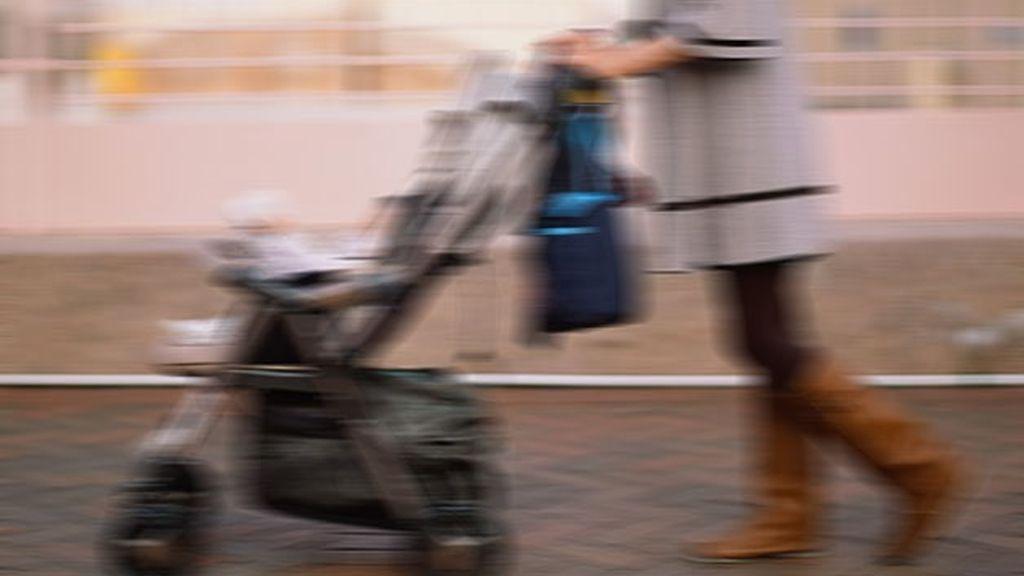 bebé, carrito de bebé
