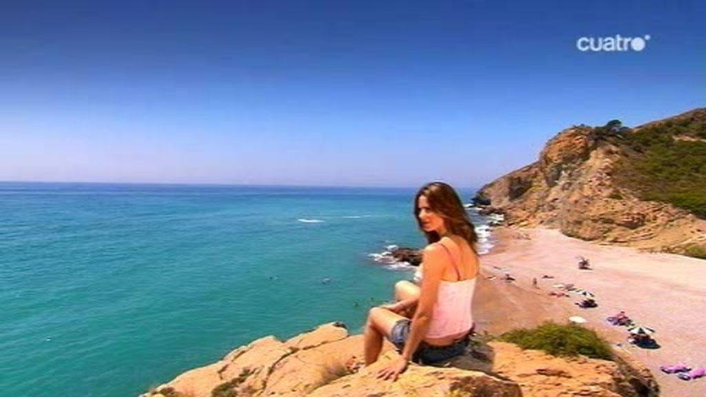 La tranquila playa de la Albufereta