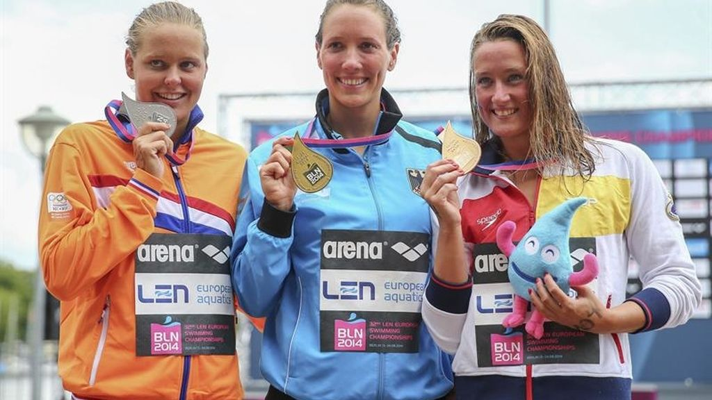 Mireia Belmonte consigue el bronce en los 5 km a mar abierto