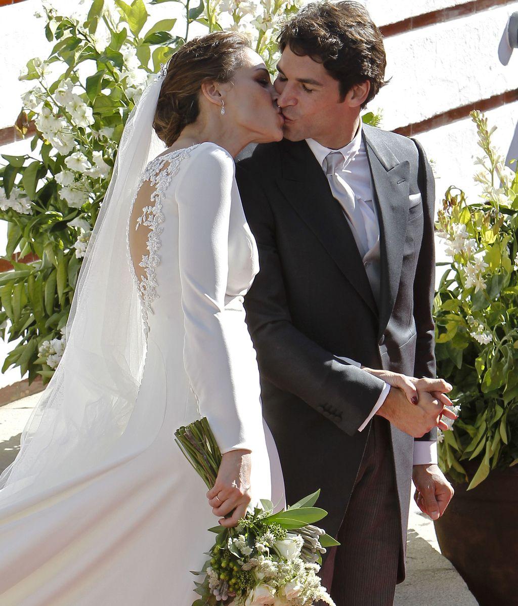 Cayetano y Eva, recién casados