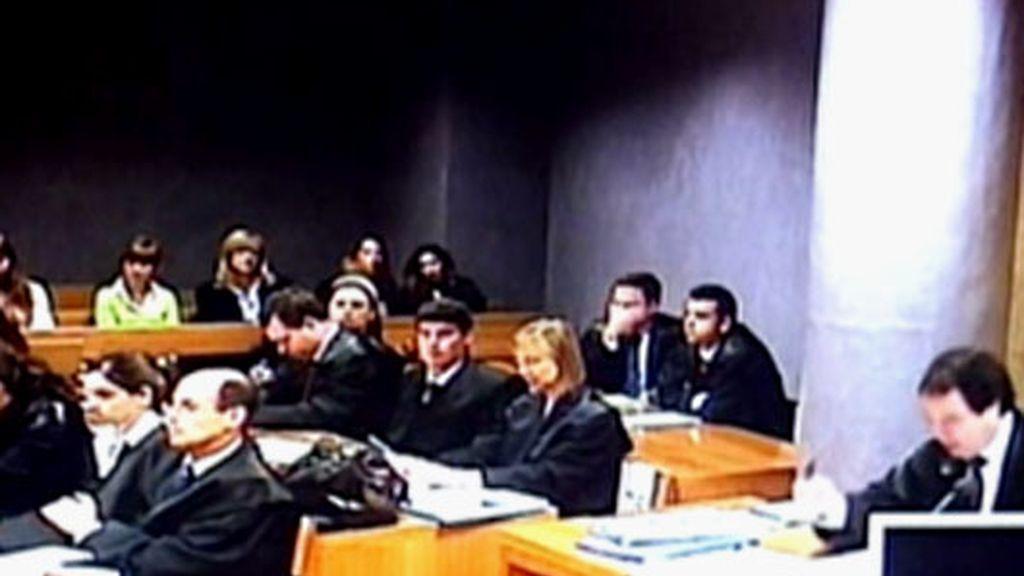 La entrada a los juzgados