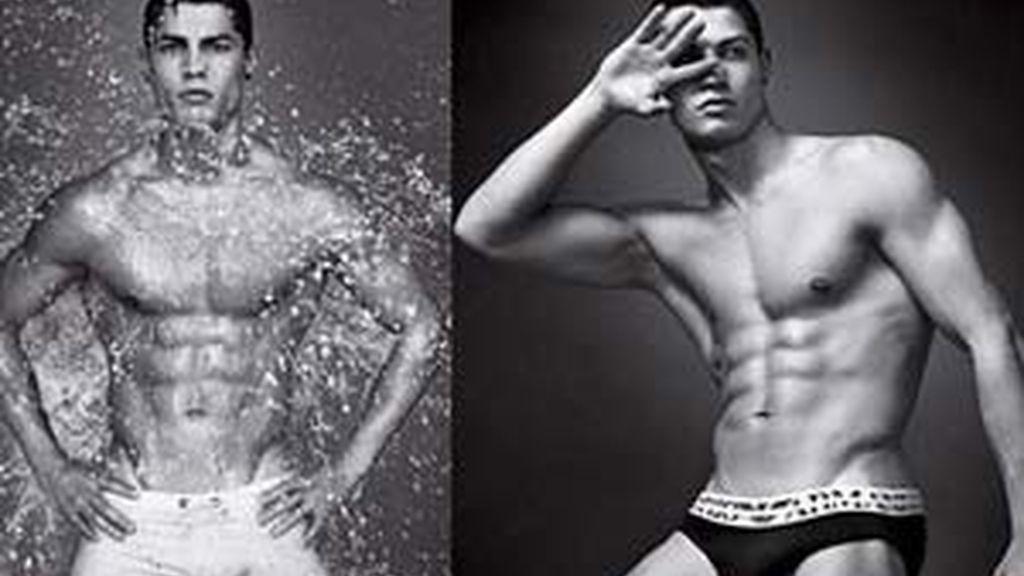 Ronaldo en la campaña para Armani.