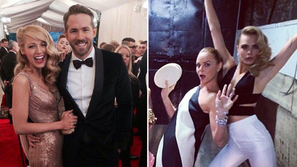 Ryan Reynolds y Blake Lively cariñosos, y Cara Delevingne saltándose el protocolo