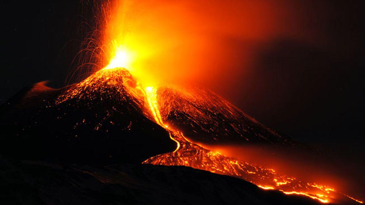 El Etna, en erupción