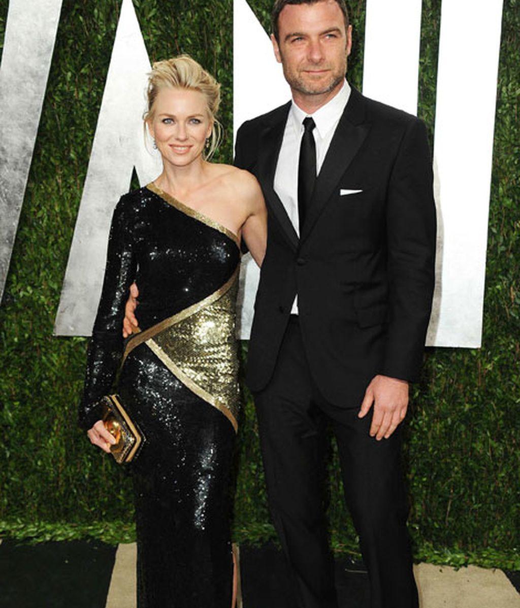 Naomi Watts y su marido, Liev Schreiber, en la fiesta de Vanity Fair