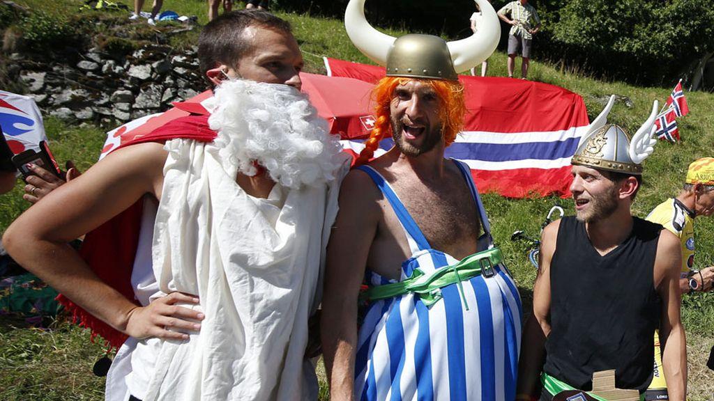 Astérix y Obelix se cuelan en el Tour de Francia (20/07/2016)